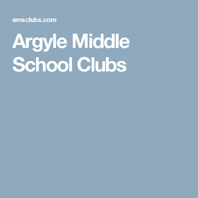 Argyle Middle School Clubs