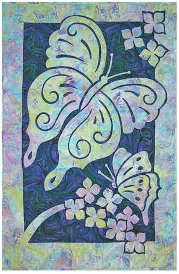 Mariposas tejido patrón del Pacífico edredón por UndercoverQuilts