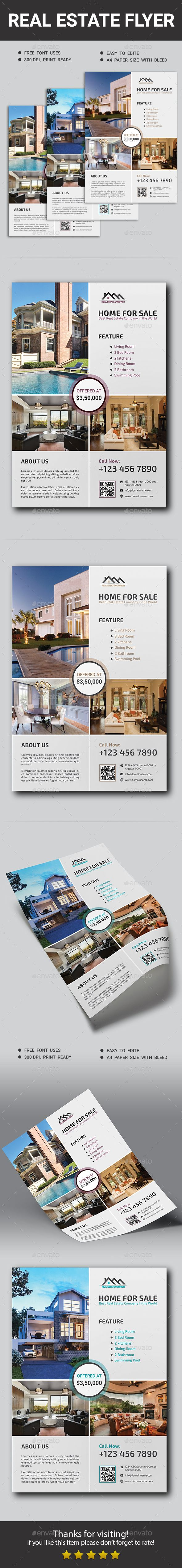 Real Estate Flyer by ResearchStudio This Real Estate Flyer Template is a great tool for promoting your Real Estate Business. Fully editable layers can perfectly cons