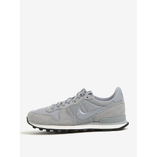 Pantofi sport gri cu detalii din piele intoarsa Nike Internationalist