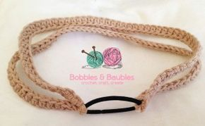 Easy Versatile 10 Minute Headband - Bobbles and Baubles | Free crochet pattern and tutorial