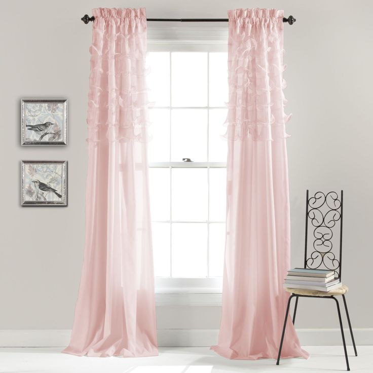 Lush Decor Avery Curtain Panel Pair (Pink), Size 54 x 84 (Polyester, Abstract)