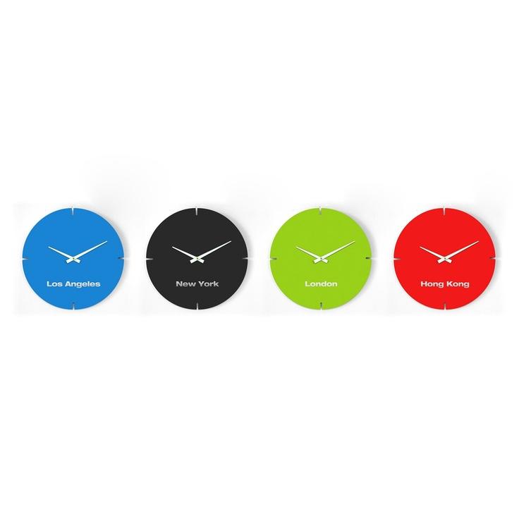 Modern Bolla Clock International Clock Set. International ClockHome Office  DecorOffice IdeasWall ...