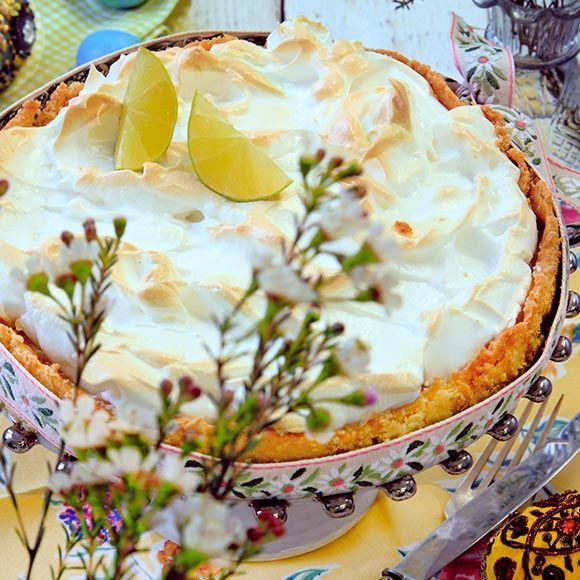 Recept på Key lime pie med marängtäcke från - Hemmets Journal
