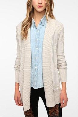 Ecote Textured Intarsia Knit Cardigan
