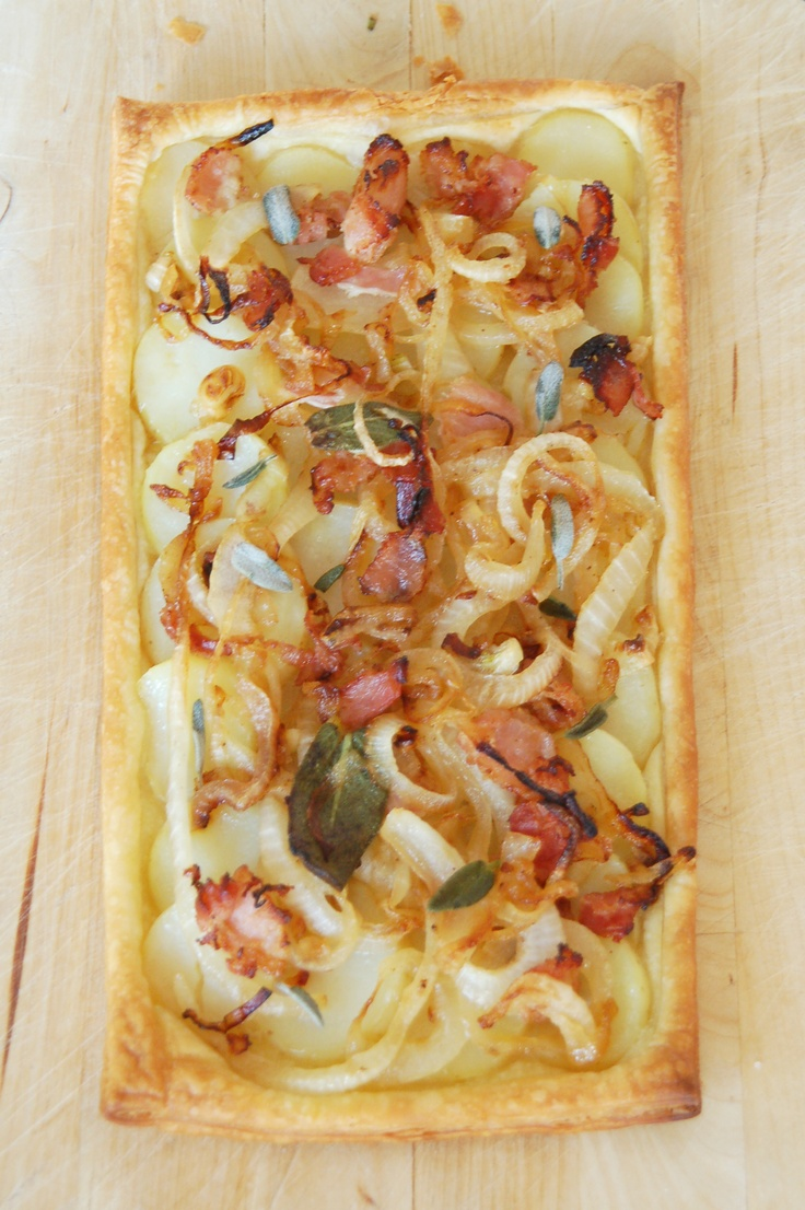 # uma deliciosa tarte de massa folhada e batata