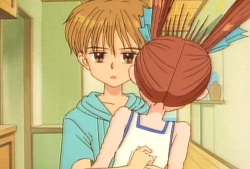 kodocha. Your still don't wear a bra, is what he said then he got a hammer to the head... ^_^
