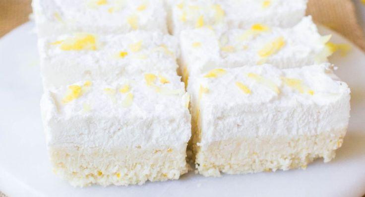 Lemon & Coconut Slice - No Added Sugar