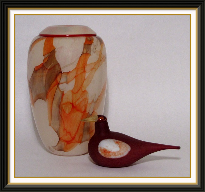 Studio photography Toikka glass bird with blown glass vase   $150