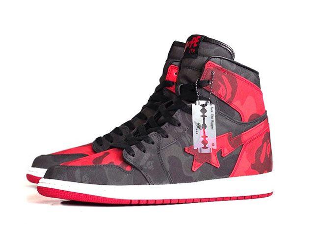 Air Jordan 1 Bape Camo Custom