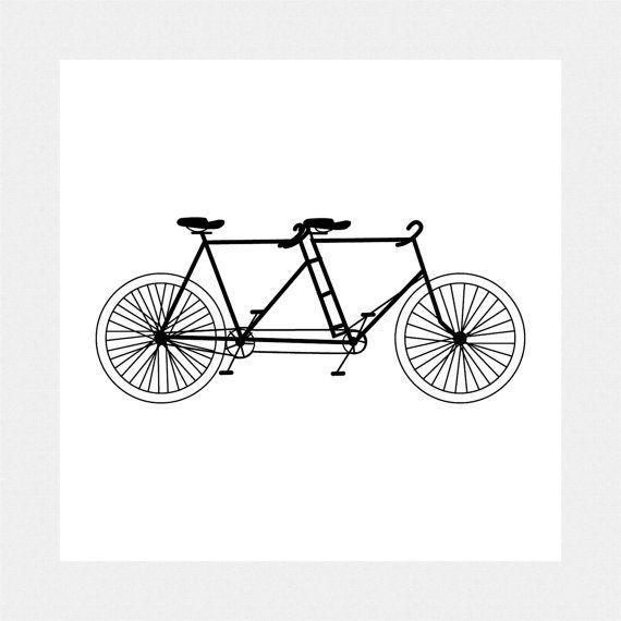 Tandem Bicycle Clip Art, Digital Download, Printable for ...