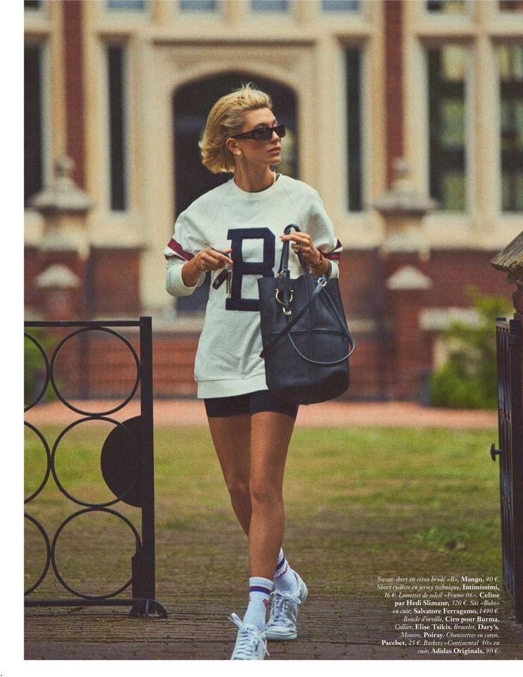 Hailey Baldwin Wears Chic Street Style for Vogue Paris