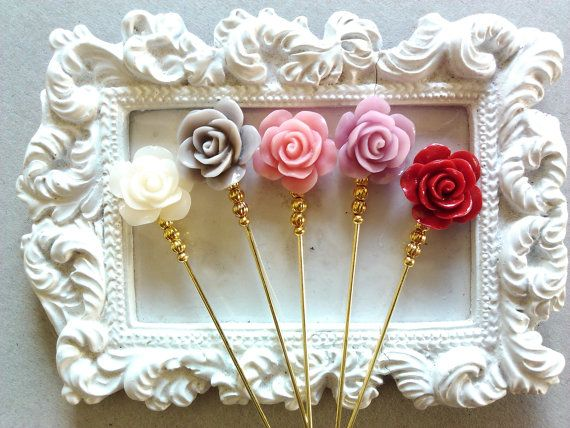 Hijab Pins  Rose stick pins by haniyyajewelz on Etsy, $22.00