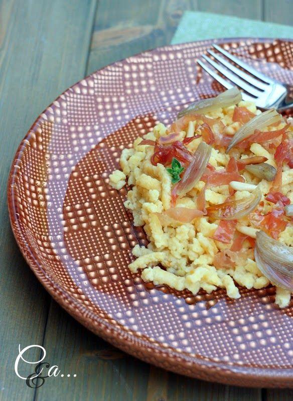 Cucinando e assaggiando...: Passatelli asciutti con scalogno confit pinoli e Culatello di Zibello DOP