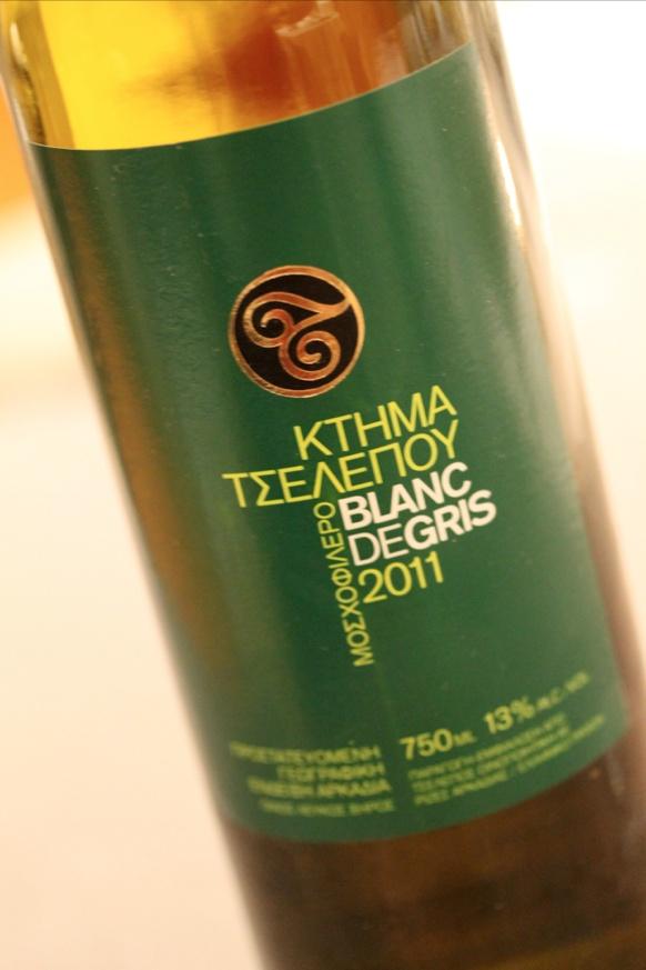 Aleria Wine List | Blanc de Gris Tselepos