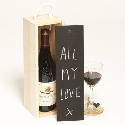 cvim caja para vino tipo tapa tipo pizarra