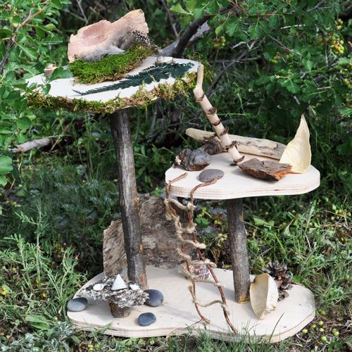 (fairy house kit) this shop has some of the most amazing fairy stuff! this fairy house is great inspiration for something to make yourself (collect from outside and get your glue gun and have fun!)