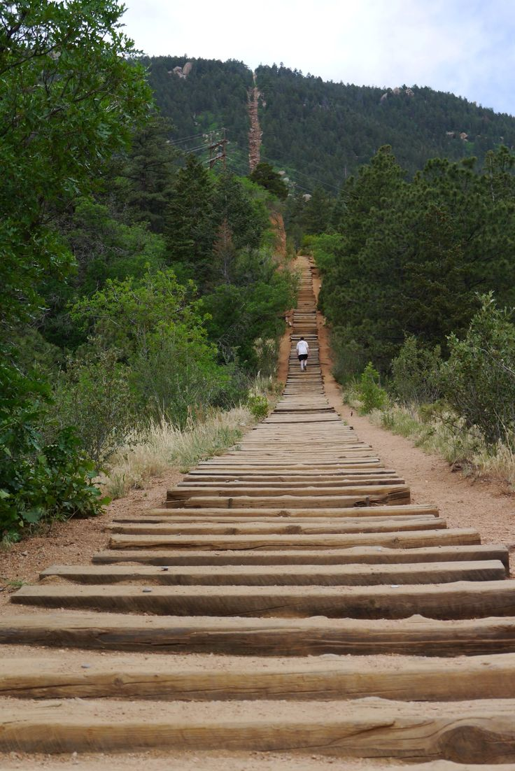 The Manitou Incline, Colorado Springs  We did it, Care!!!!