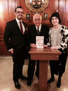From tonight's book launch of The Rebel of Savannah, with authors Hayim Tawil and Mazal Alouf-Mizrahi.