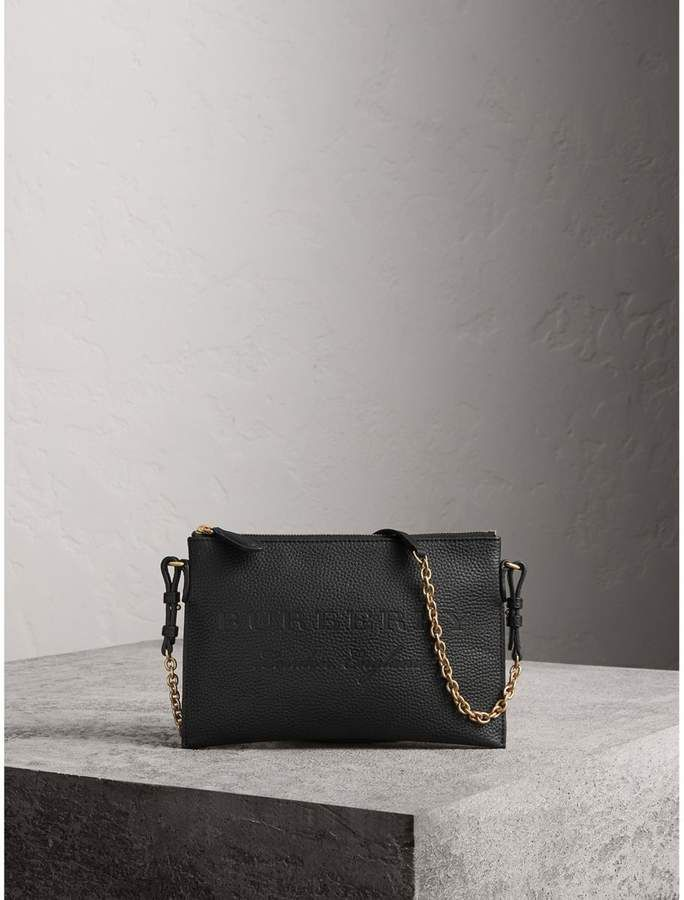 a8942699a8a Burberry Embossed Leather Clutch Bag   Handbags   Leather clutch ...