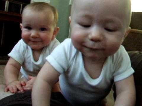 He Just Wanted To Film His Twins Standing Up, But Instead...Attack Of The Babies!