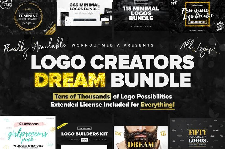 1,000+ Logo Templates from WornOutMedia - only $24!