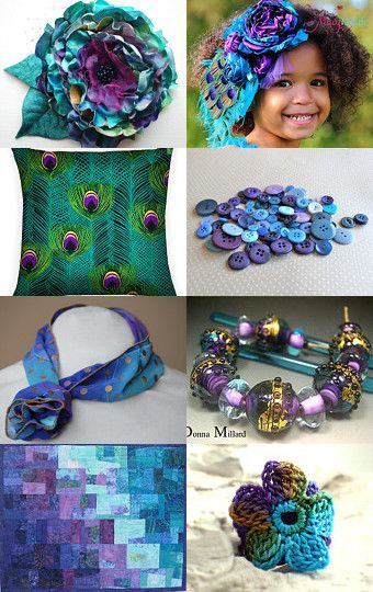 Teal and Purple pinned by Beverly Ash Gilbert -Pinned with TreasuryPin.com Repin if you love Teal and Purple with a touch of Gold!