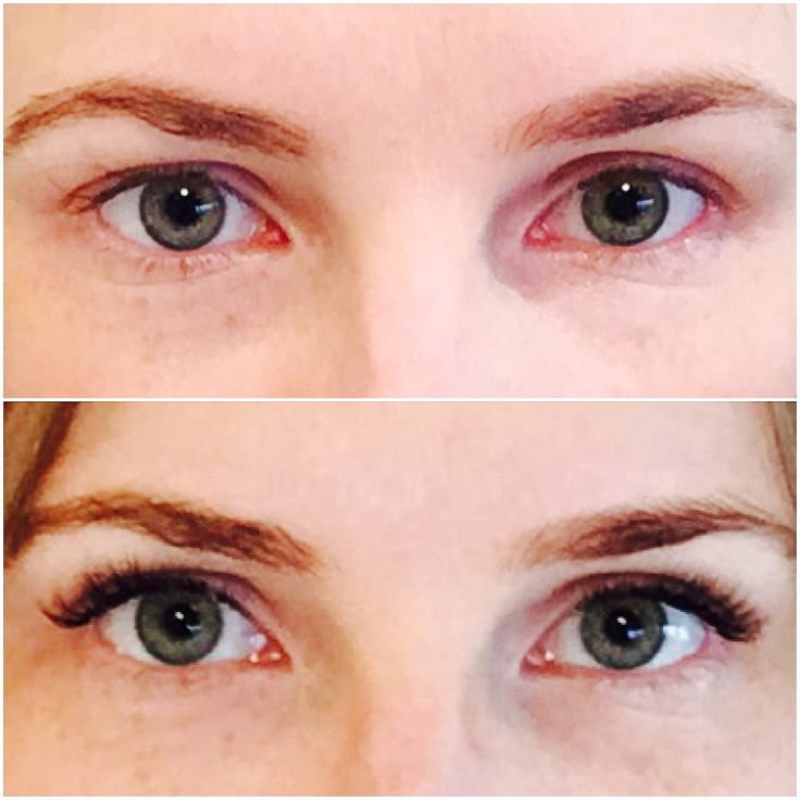 Before & after of one of our beauties! 2D-3D Russian volume lash extensions ✨ what a difference lashes make!