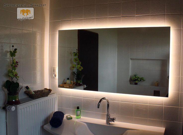die besten 25 badezimmerspiegel mit beleuchtung ideen auf pinterest gerahmter. Black Bedroom Furniture Sets. Home Design Ideas