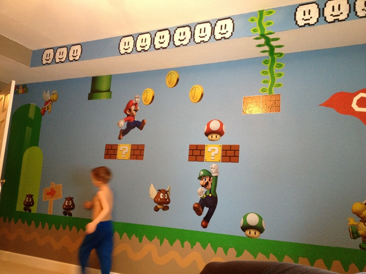 Super Mario bros room. 84 best Mario Bros bedroom for Isaiah images on Pinterest   Super
