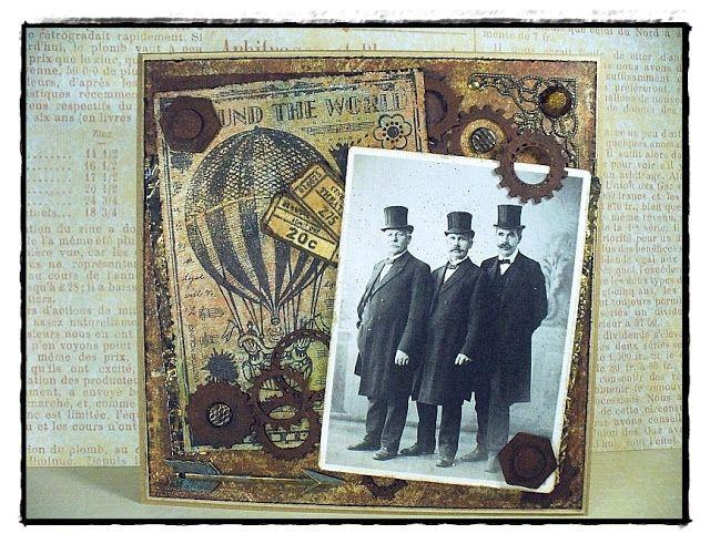 MAXymalnie Papierowo: Rdza, balon i ...wąsy / Rust, balloon and a mustache ...