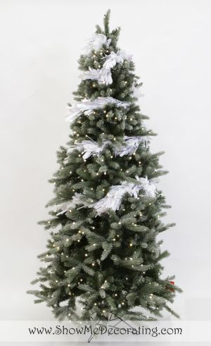 Winter Whimsy Christmas Tree Theme- add in white tinsel garland for a snowy look.