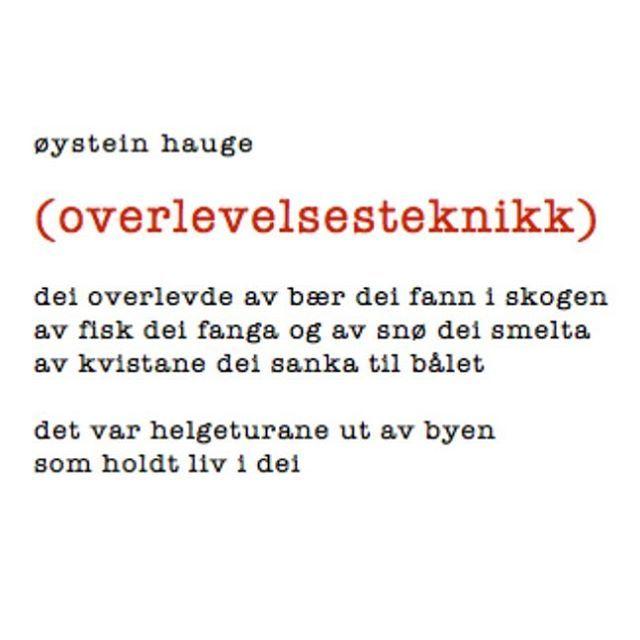 """1,386 Likes, 14 Comments - @renpoesi on Instagram: """"! #øysteinhauge @manuspilotene #dikt #lyrikk #poesi #renpoesi"""""""