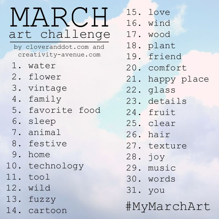 March Drawing Challenge- yess can't wait to do this