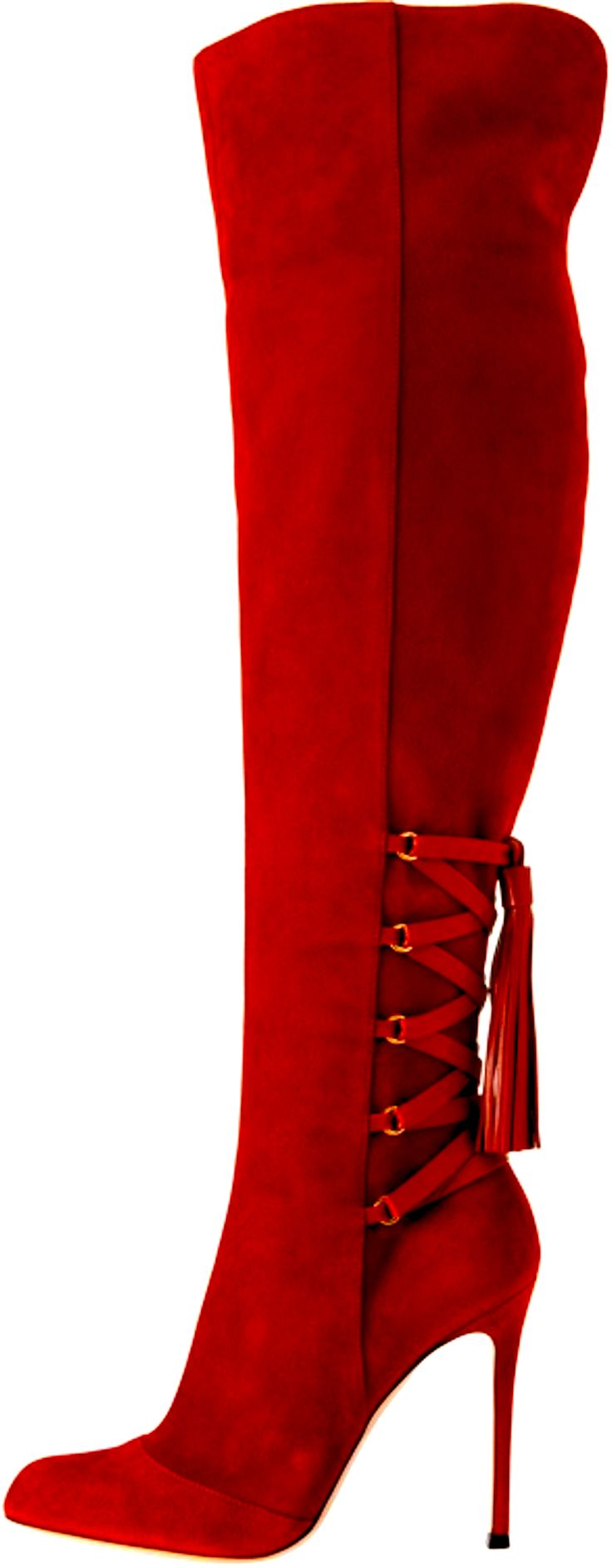 Gianvito Rossi Now that's a Red Boot. Could wear it with the red deck of cards dress. :D
