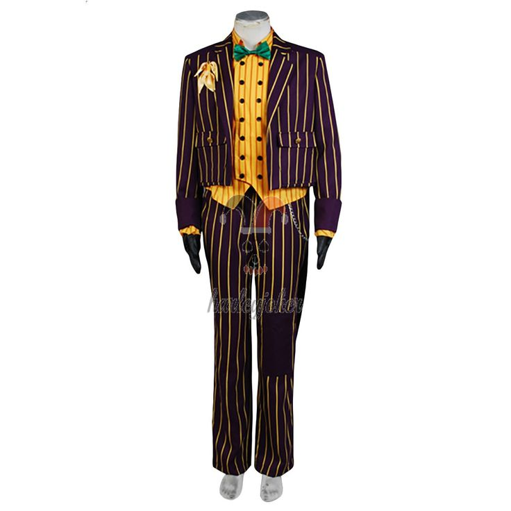 Batman Arkham Asylum Joker Cosplay Costume Coat Suit --- Batman Cosplay Costume