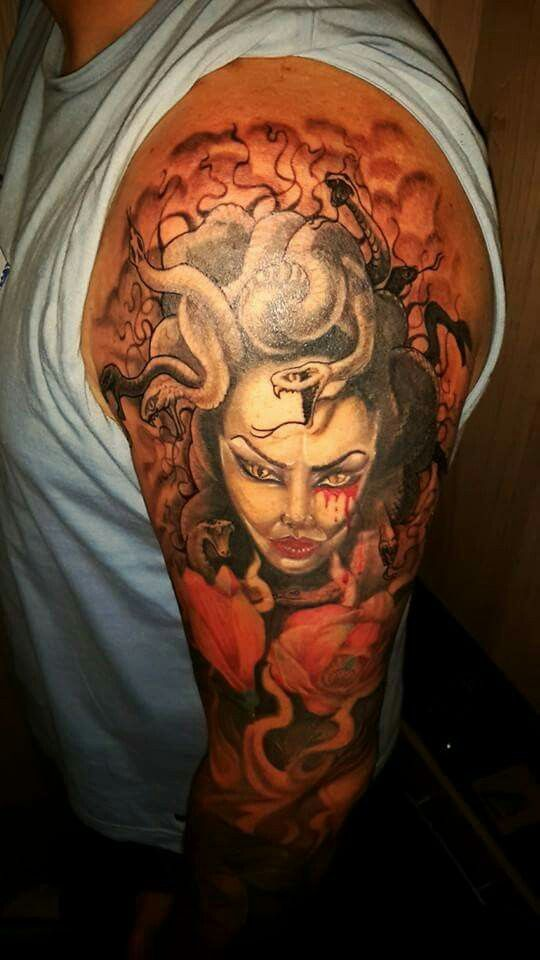 Medusa tattoo in progres
