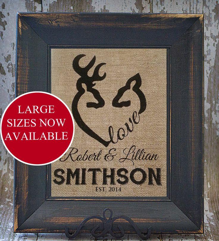 DEER LOVE Camp personalisierte Sackleinen bestickt Wall Art Hochzeitstag House Erwärmung Geschenk von Studio44Designs auf Etsy https://www.etsy.com/de/listing/167346303/deer-love-camp-personalisierte