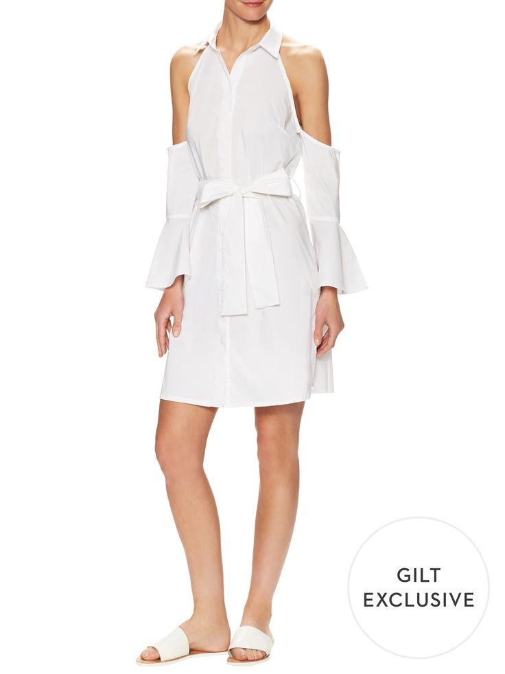Firth Cold Shoulder Shirt Dress