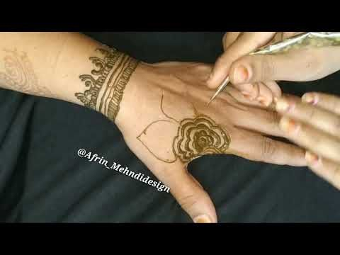 Simple Mehndi Designs For Hands Backside Quick Easy