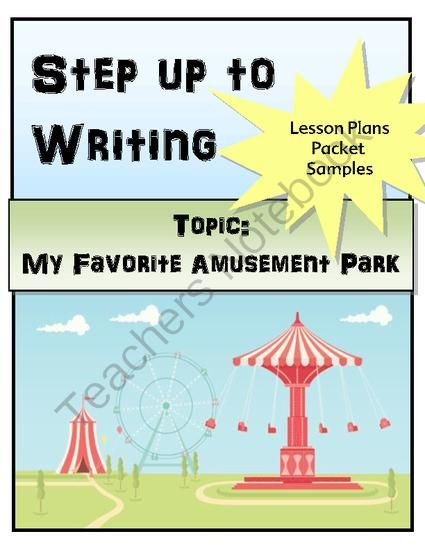 Step Up To Writing Lesson From The Resourceful Teacher On