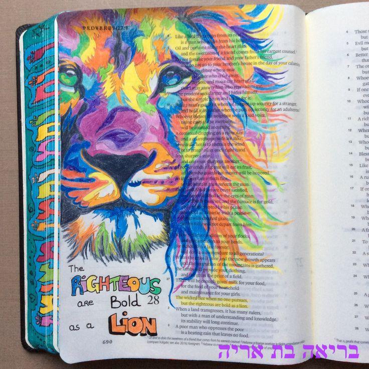 ESV journaling Bible. Proverbs 28:1