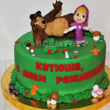 Маша и Медведь - детский торт