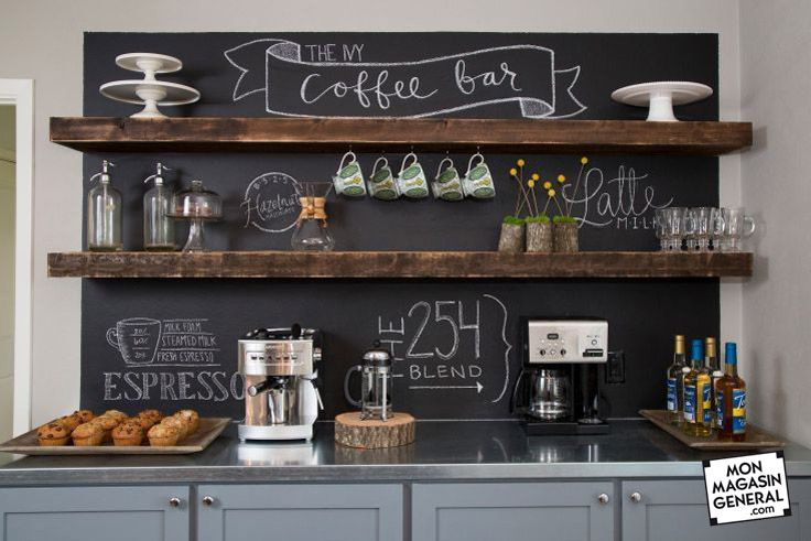 Voilà comment rendre votre cuisine personnalisée et personnalisable ! Cliquez sur l'image pour le faire chez vous #peinture #craie #tableau