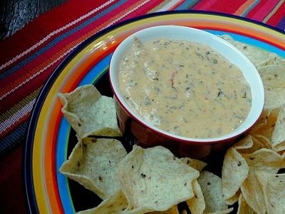 Spinach queso dip - this is a great dip!  I replace the sour cream for 1 pkg of cream cheese to make it creamier.  Enjoy!