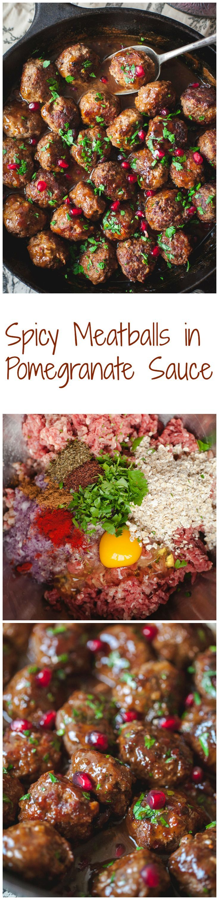 Nothing beats homemade meatballs and if you like sweet and sour sauces, you will fall in love with this pomegranate sauce that the meatballs are glazed in!