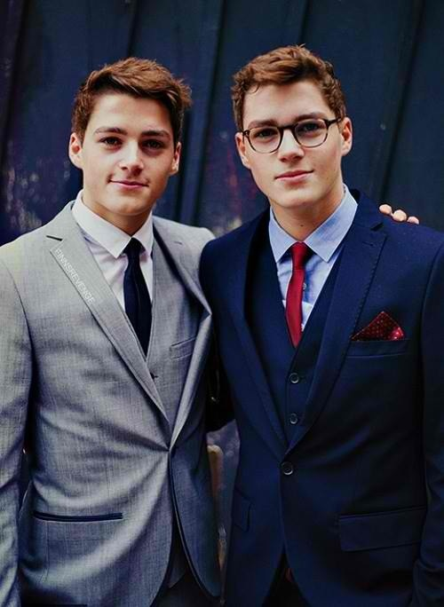 Ladies, I give you...*Pause for effect*...JACK AND FINN HARRIES... Two VERY fine specimens of the male species!