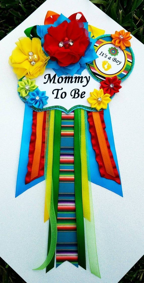 Mexican Fiesta Baby Boy Loteria  Baby Shower Themed Mommy Corsage Pin