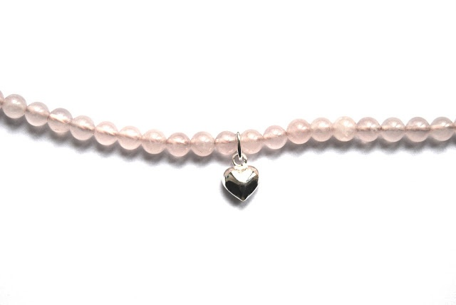 the pink bracelet    its' all rose quartz and sterling silver.