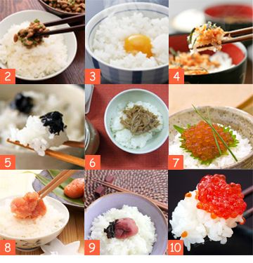 Top Ten List – Japanese Favourite Rice Topping | Musashi – Auckland Japanese Restaurant | St Heliers | Milford